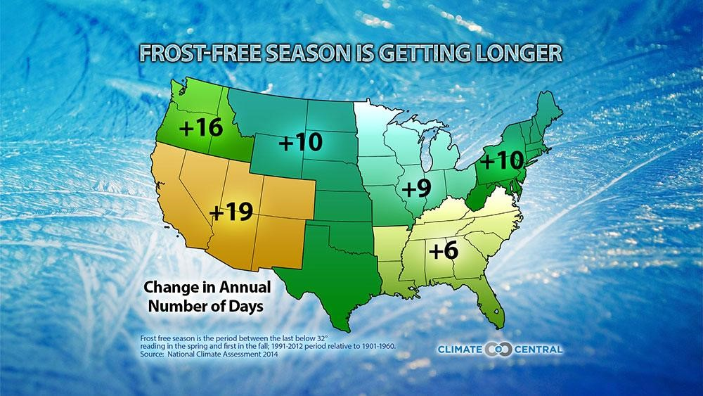 Frost free map